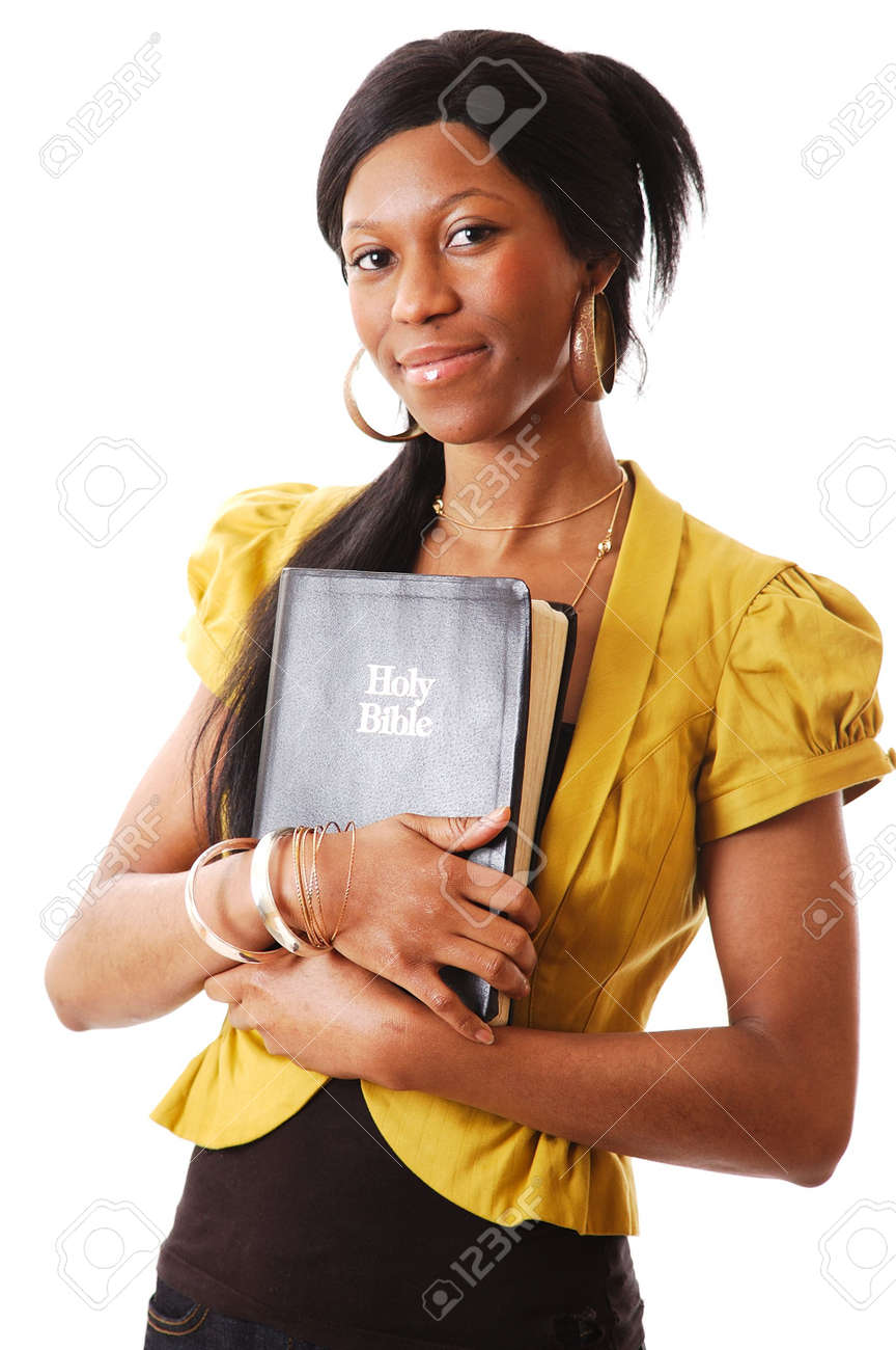 This is an image of a woman holding a bible. Stock Photo - 9425112