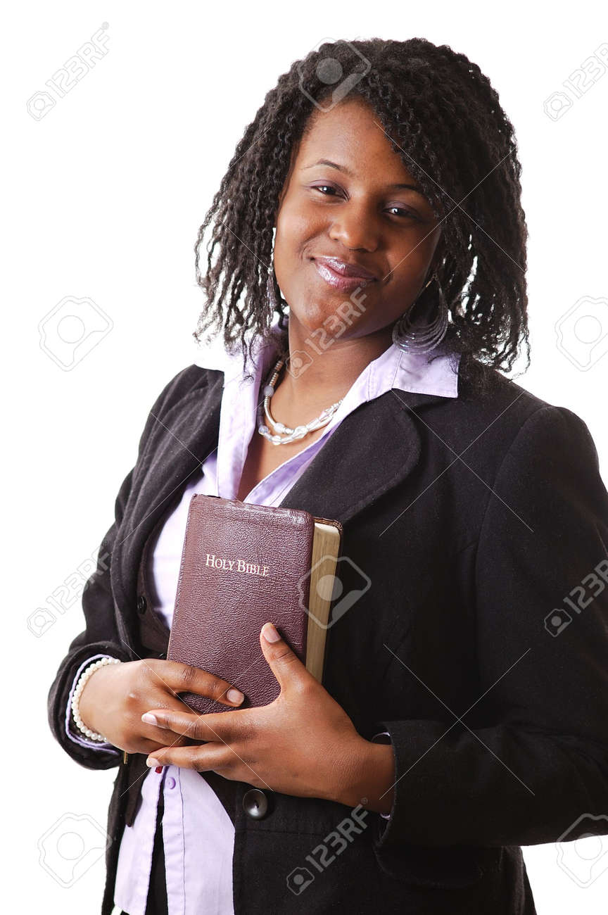 This is an image of a woman holding a bible. Stock Photo - 3962794