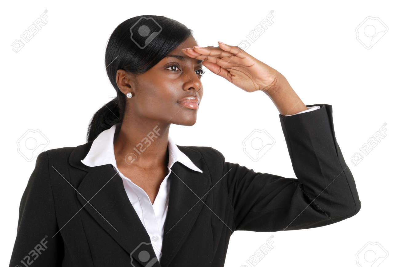 This is an image of a business woman looking away into copyspace. This represent business vision. Stock Photo - 9393191