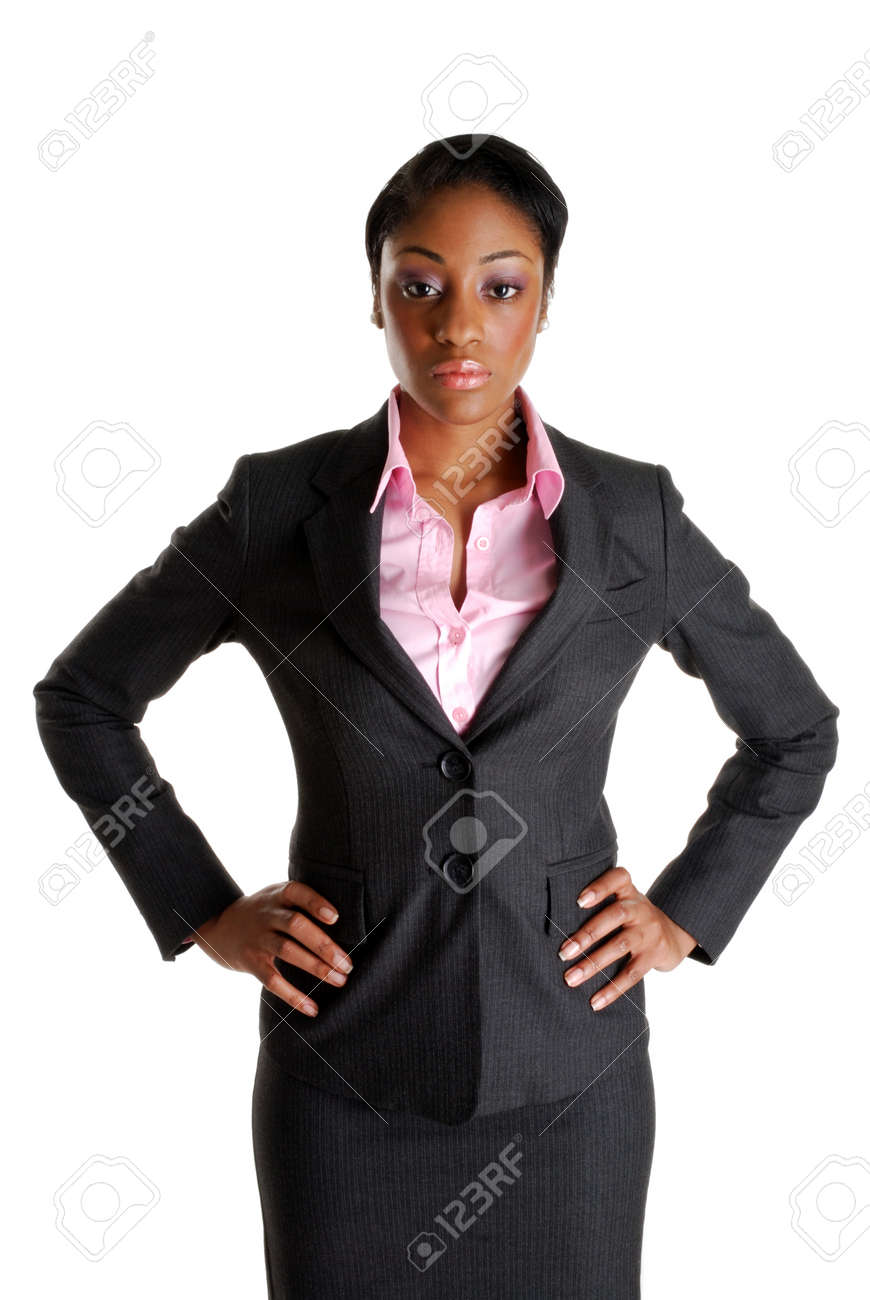 This is an image of serious and stern business woman. Stock Photo - 9393192