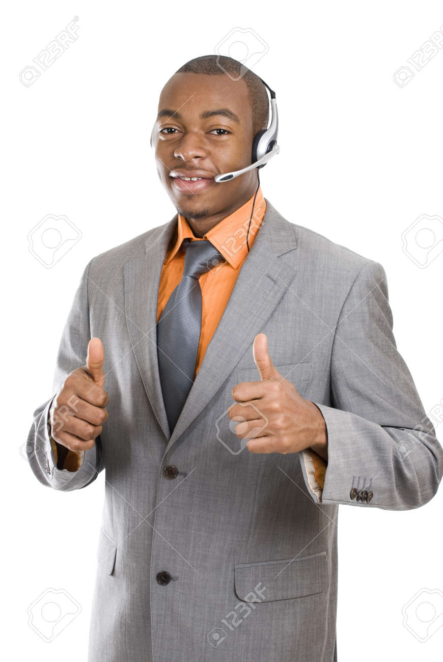 This is an image of a customer support operator. Stock Photo - 9413351
