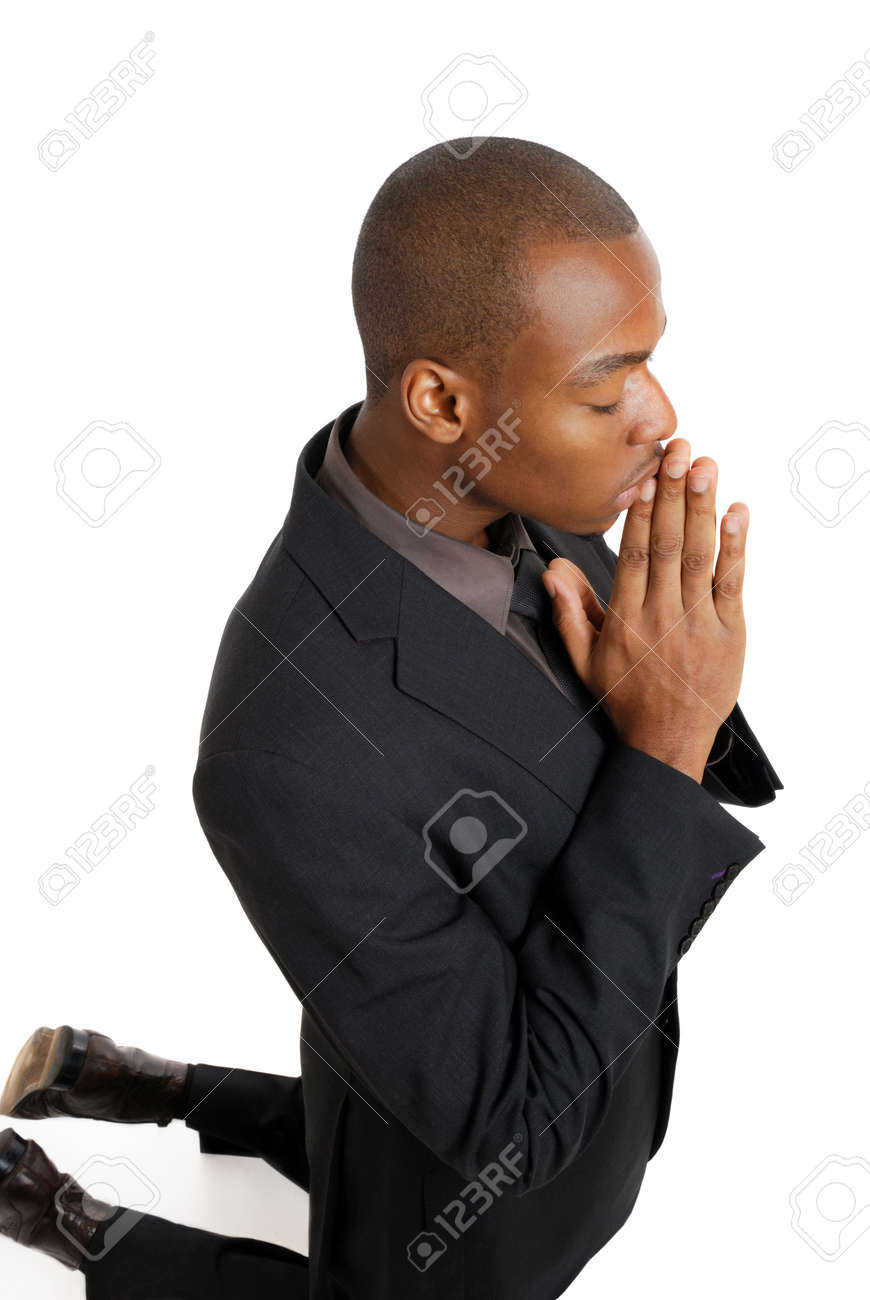 This is an image of business man on his knees praying. Stock Photo - 9425161