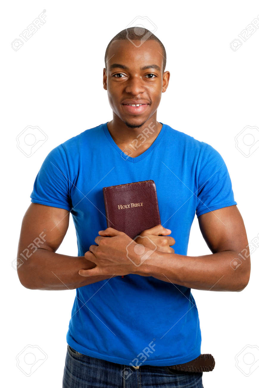 This is an image of student holding a bible showing commitment. Stock Photo - 9425193