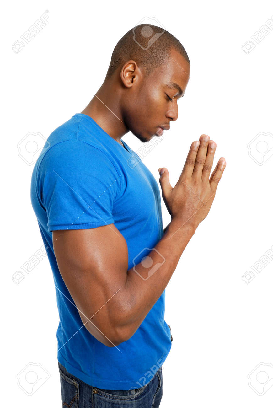 This is an image of a student praying. Stock Photo - 9425164