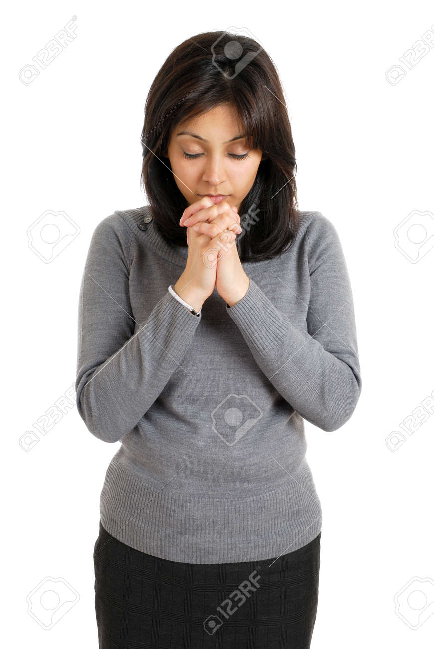 This is an image of young woman praying. Stock Photo - 9425203