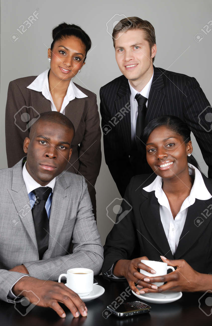 This is an image of a multi ethnic business team. Stock Photo - 9436662