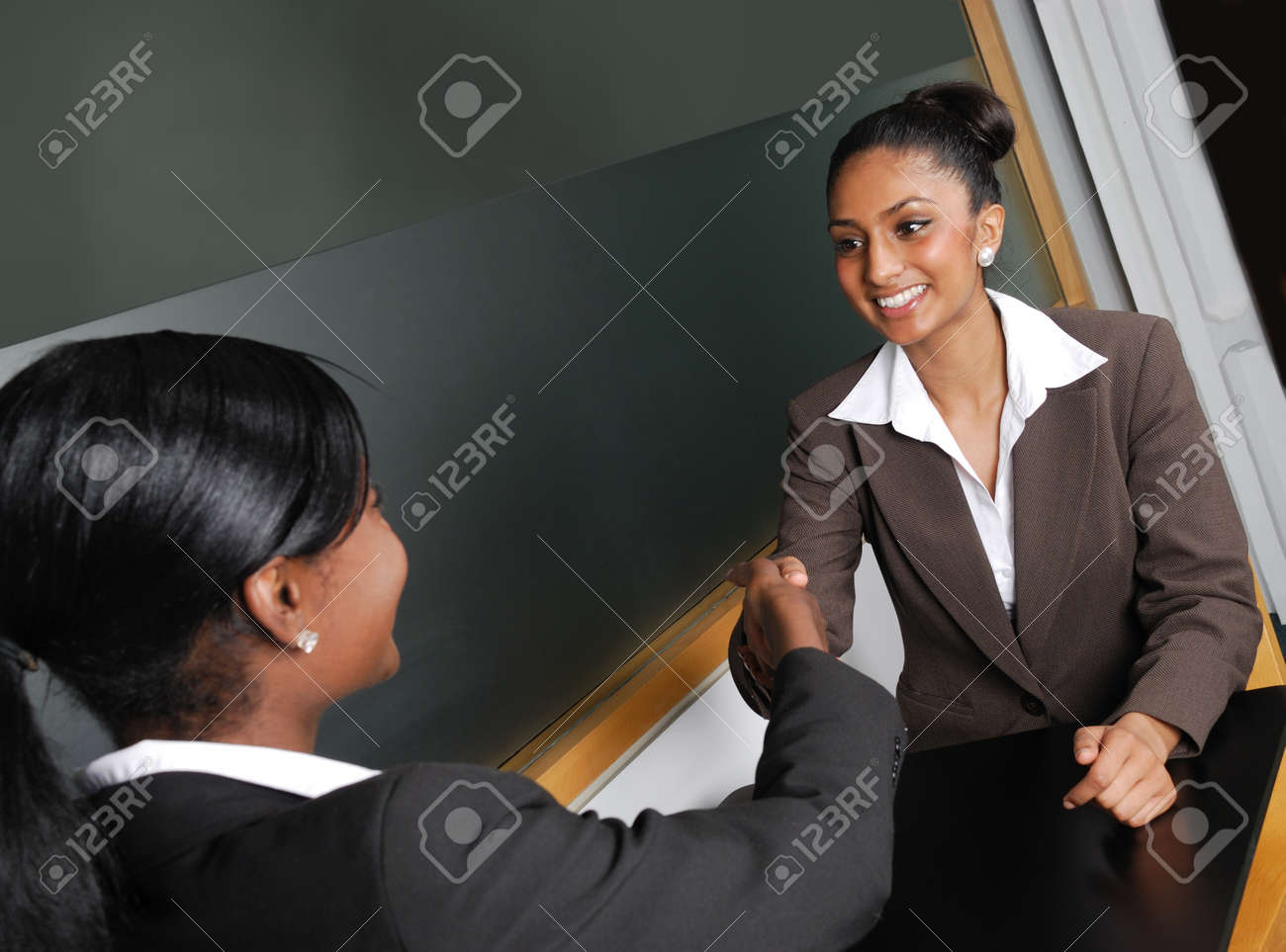 This is an image of a business team having a discussion. Stock Photo - 9436499