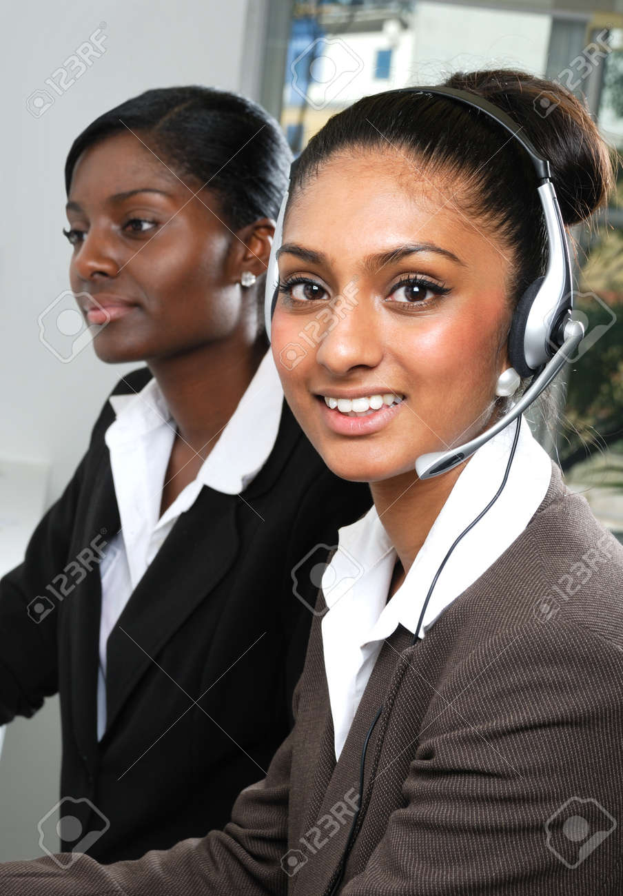 This is an image of helpdesk center operator. Stock Photo - 9436697