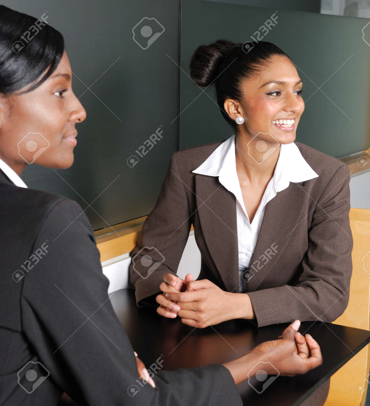This is an image of multi-ethnic business team looking away. Stock Photo - 9436551