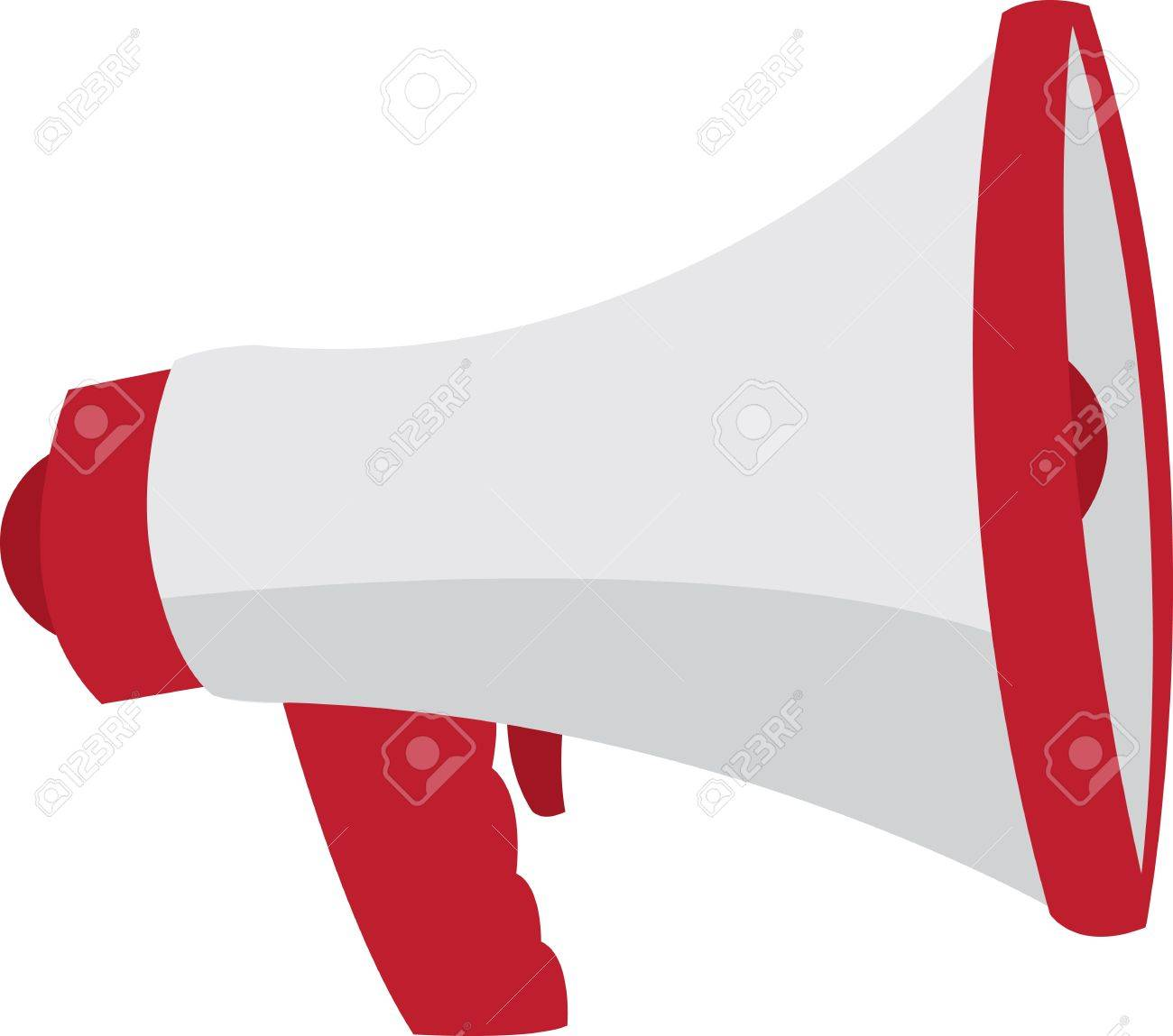 Red and grey megaphone isolated Stock Vector - 11980058