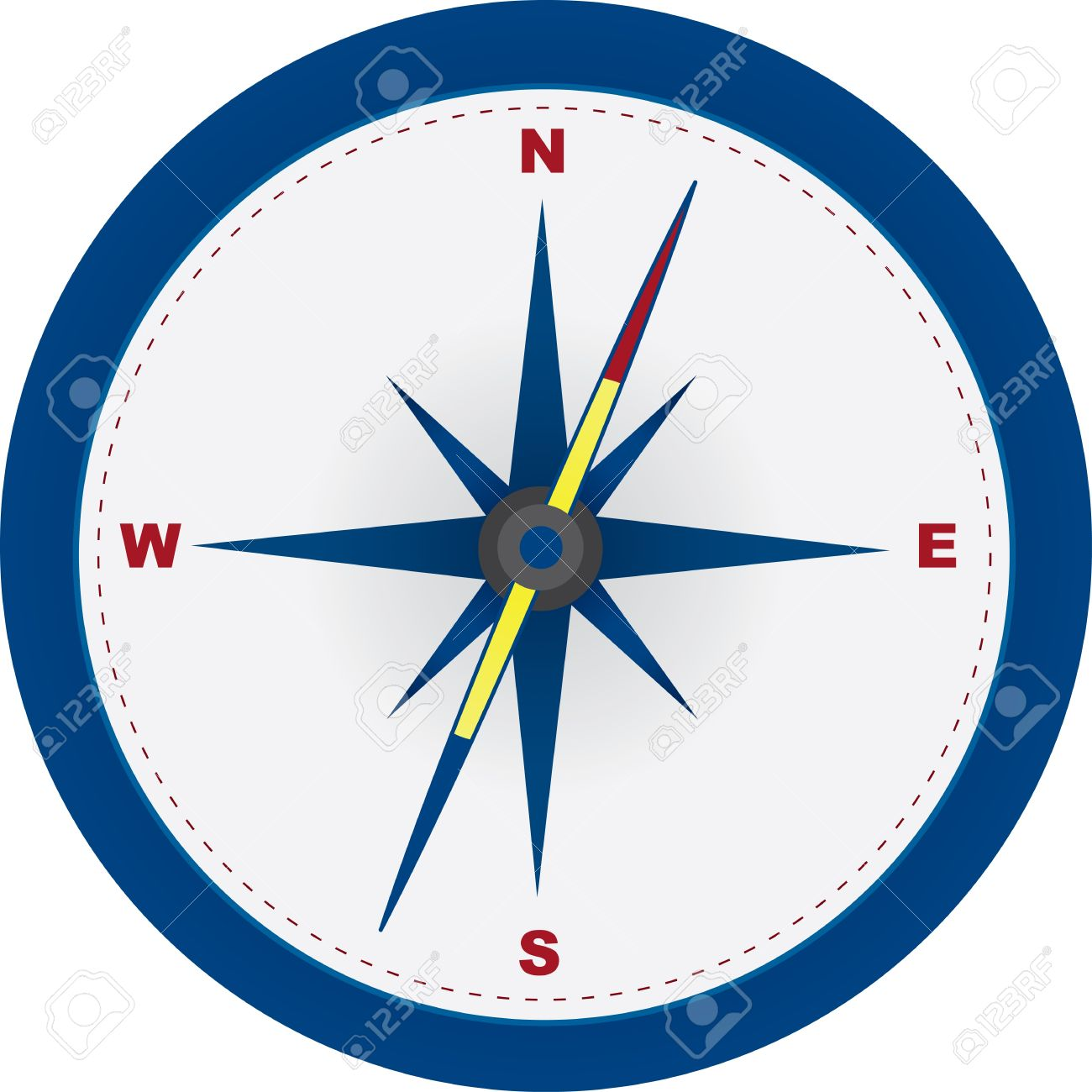 Red and blue compass with north east south and west symbols red and blue compass with north east south and west symbols stock vector biocorpaavc Image collections