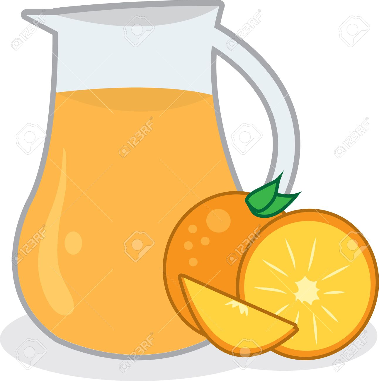 Pitcher of orange juice with oranges Stock Vector - 12854370