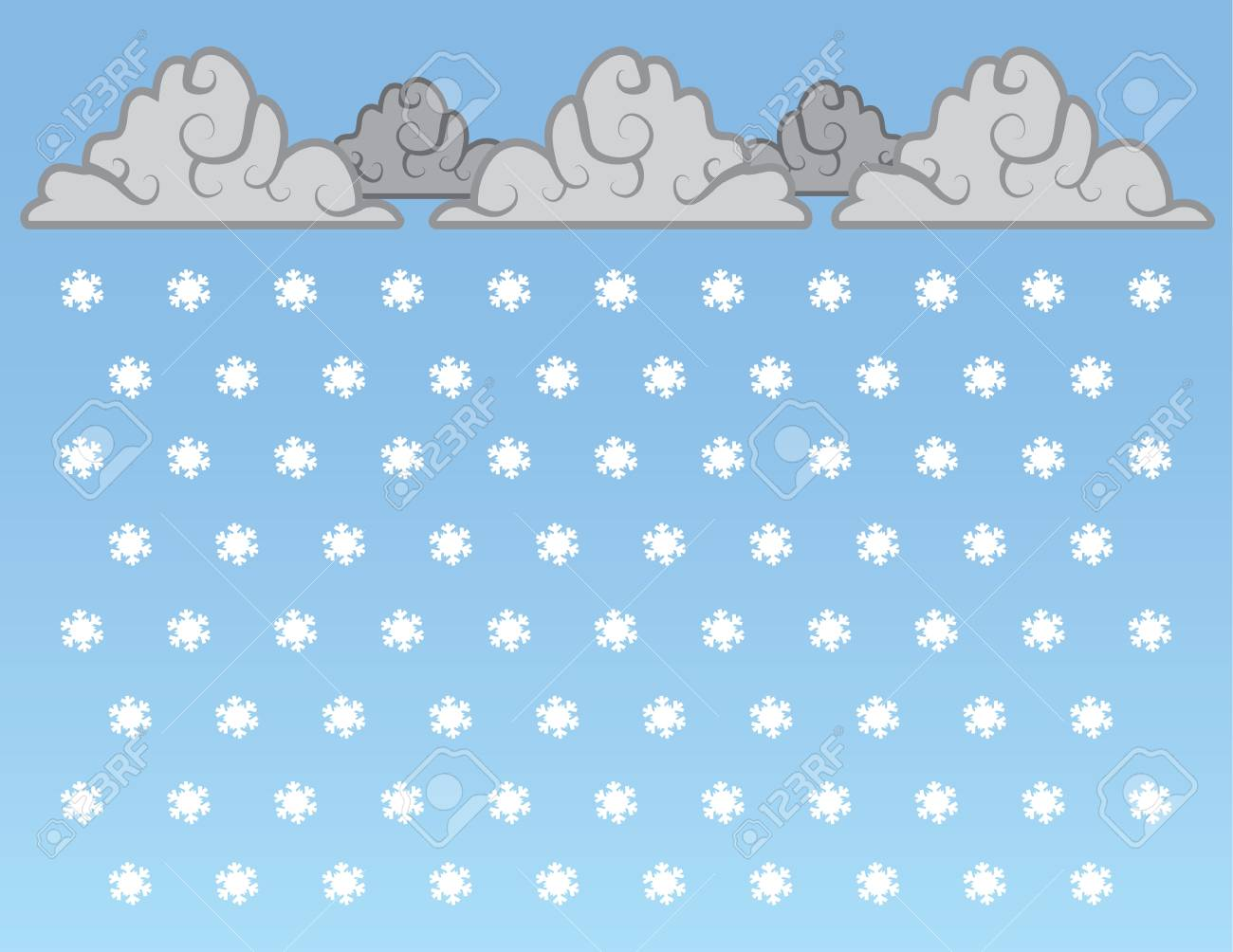 Snowflakes falling from clouds in the sky Stock Vector - 15178899