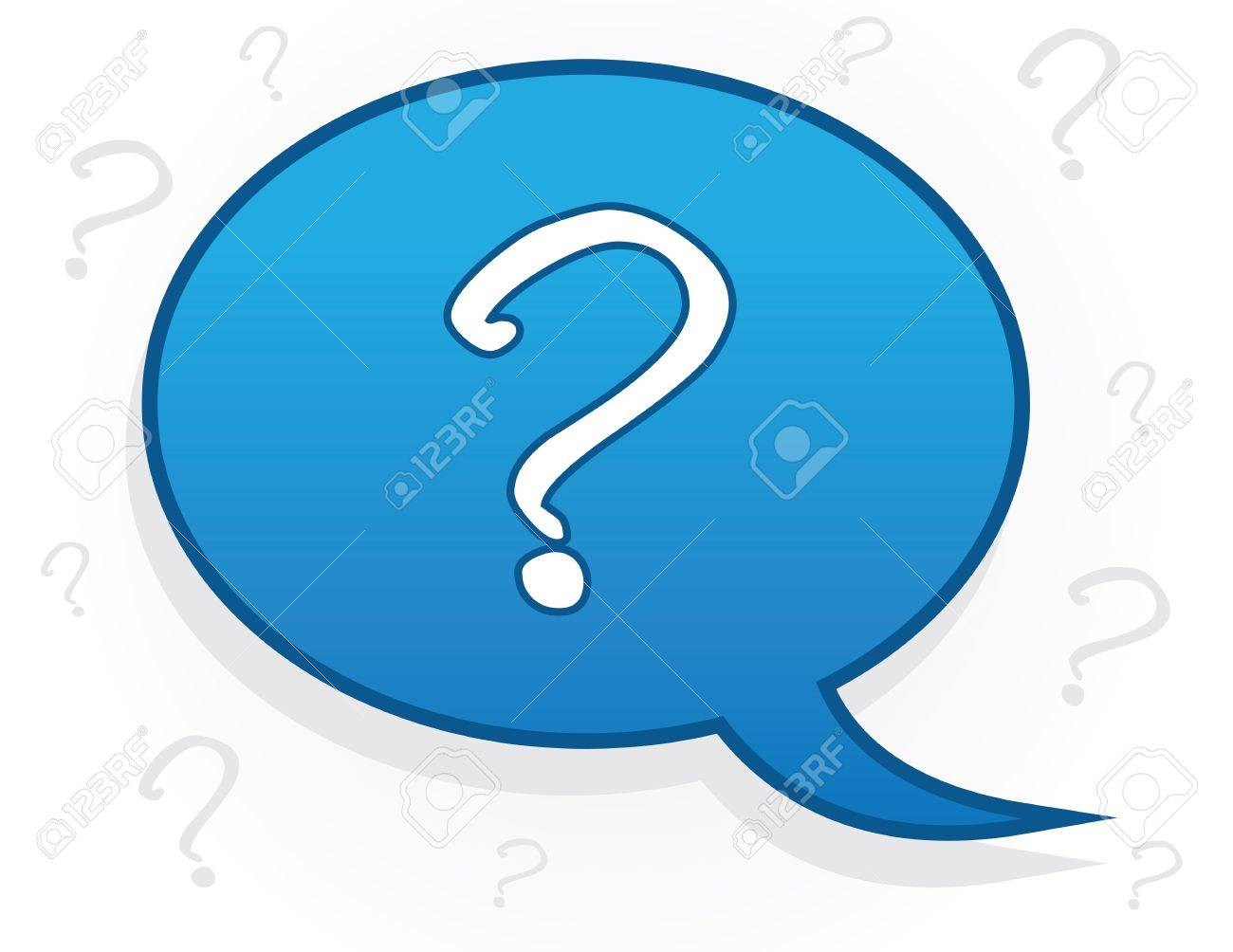 Speech bubble with question mark symbol Stock Vector - 15804366