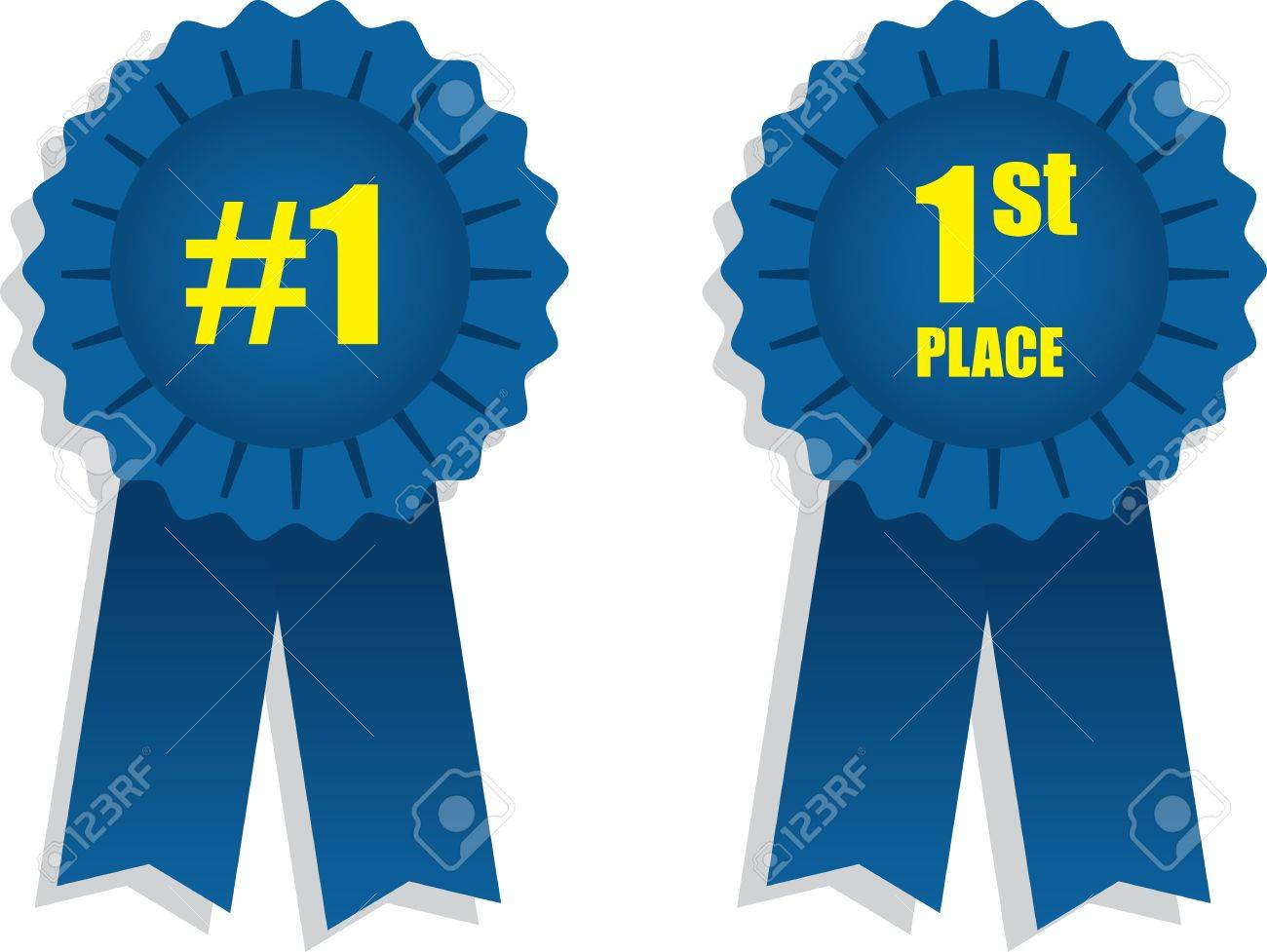 1st place winning blue ribbons Stock Vector - 16759008