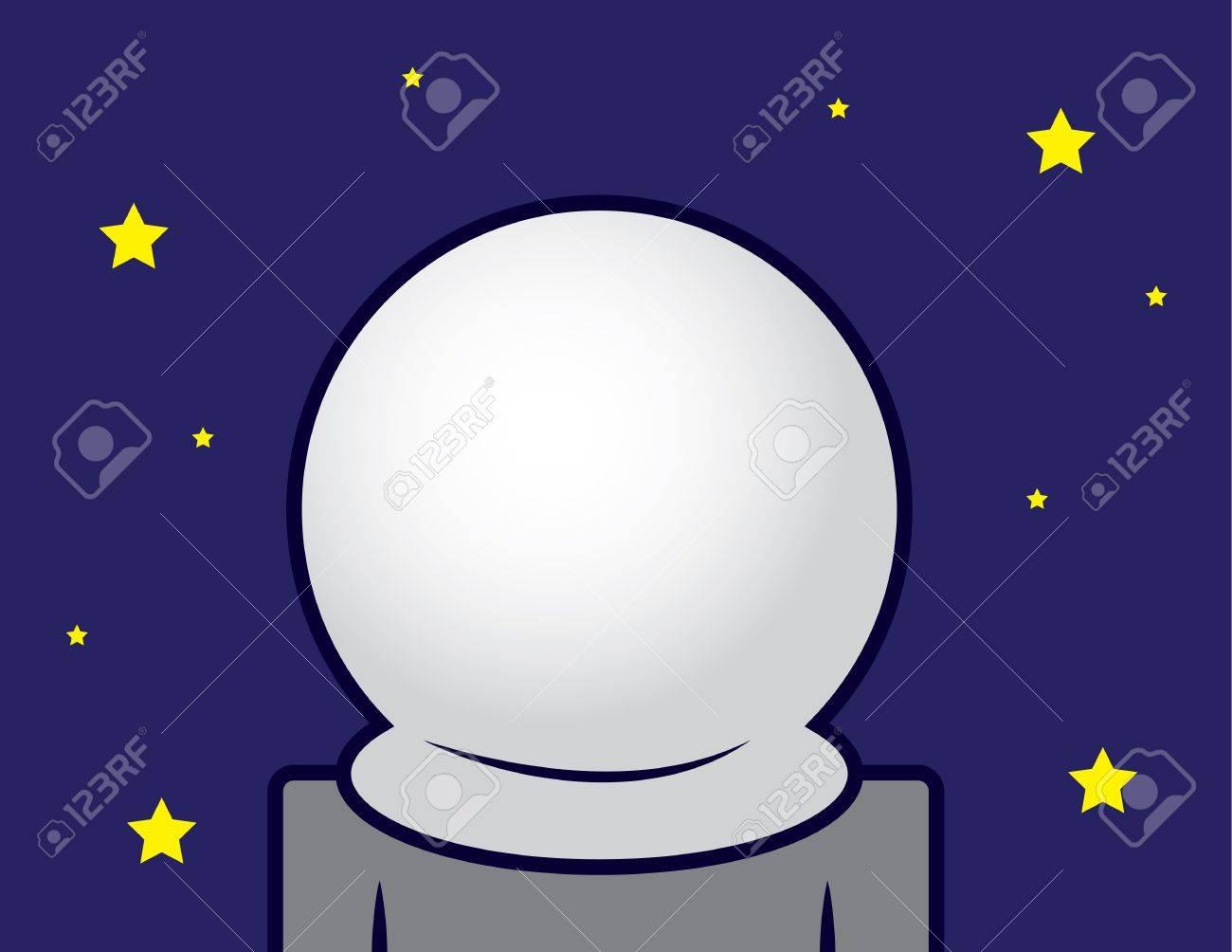 Astronaut in space with blank helmet Stock Vector - 16981325