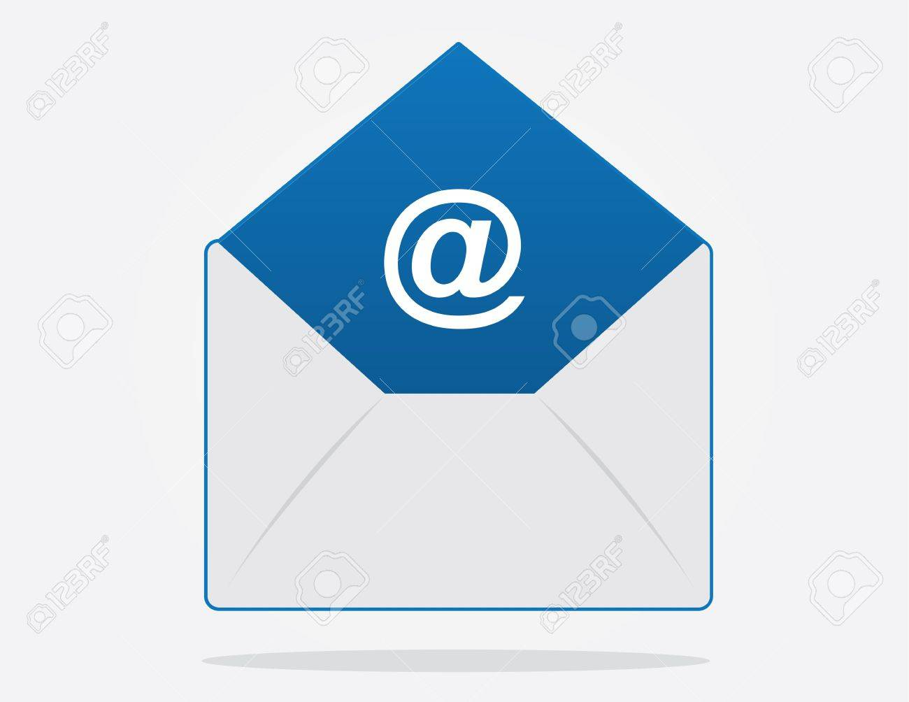 Floating email envelope with symbol inside Stock Vector - 17811955