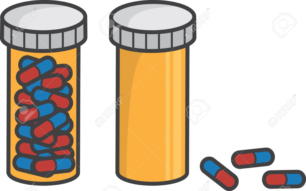 isolated pill bottle full and empty royalty free cliparts vectors rh 123rf com medication bottle clipart