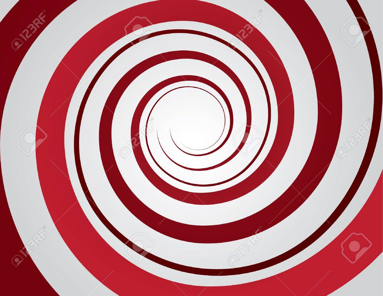 Red spiral and gray background Stock Vector - 18409499