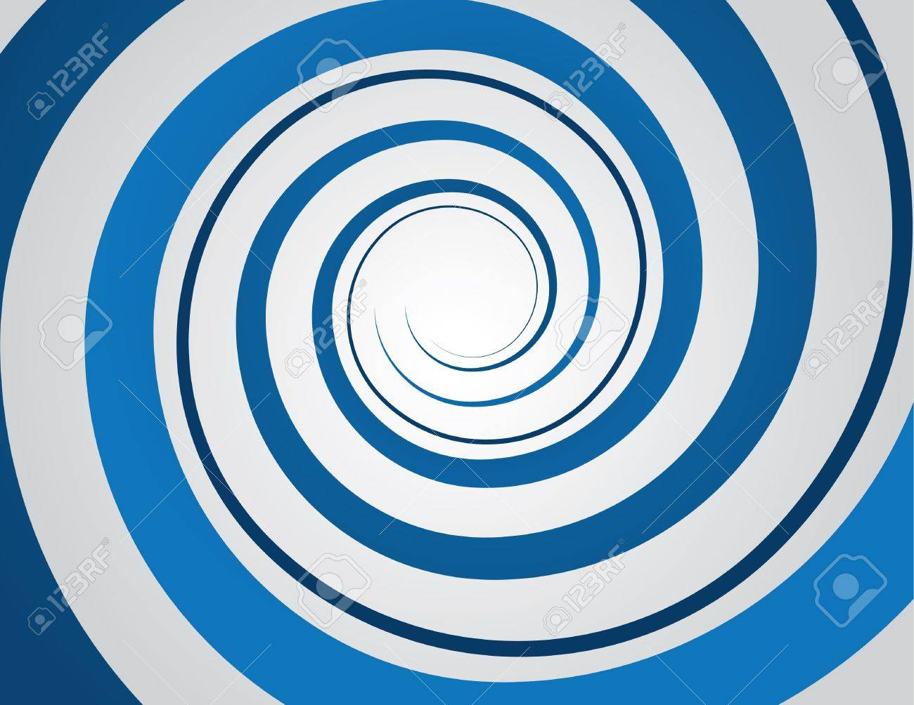 Blue spiral and gray background Stock Vector - 18544017