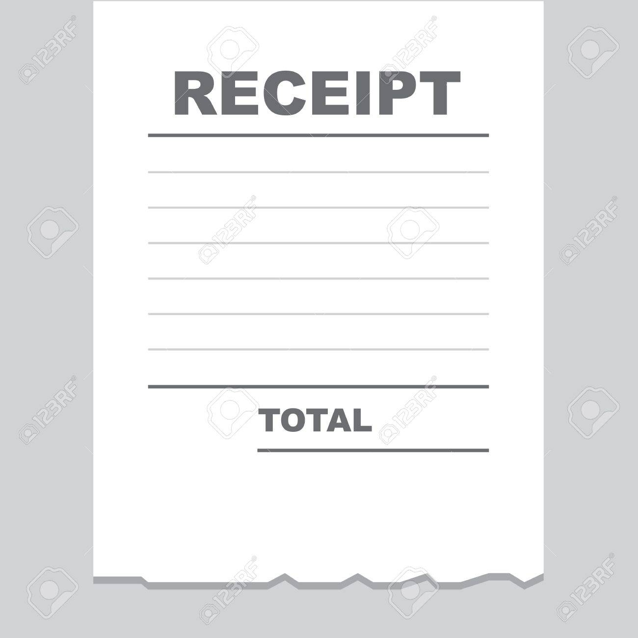 Blank Receipt Printout With Torn Bottom Edge Royalty Free Cliparts – Print a Receipt Free