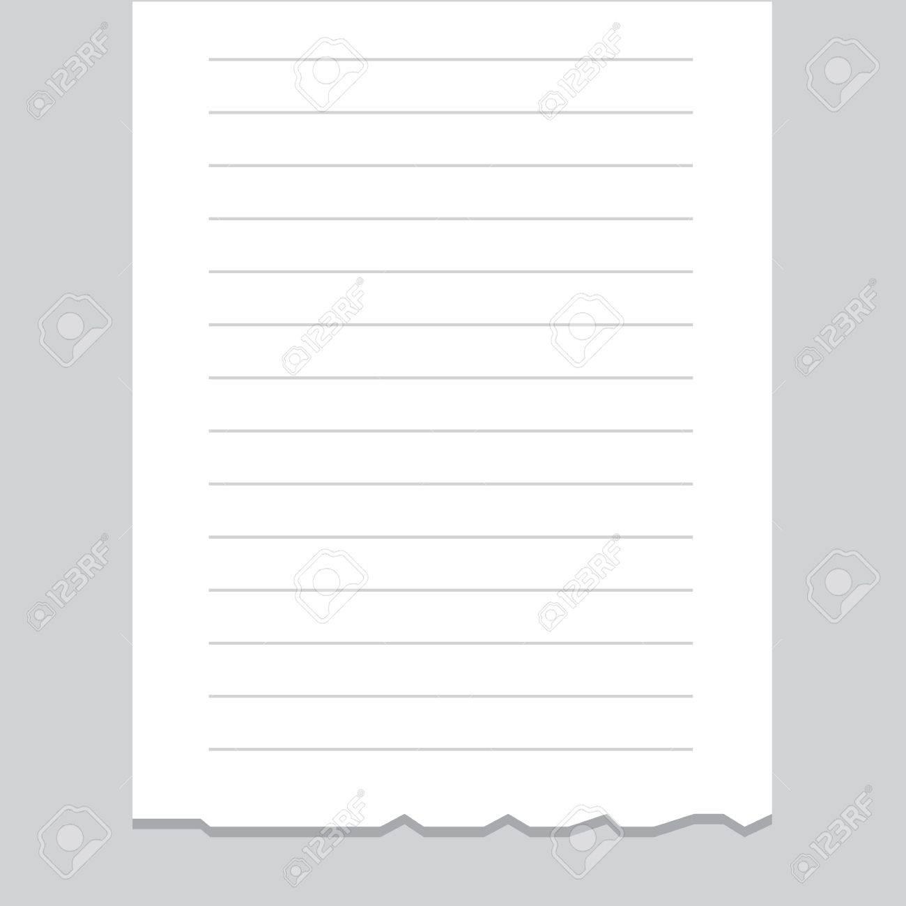 Empty receipt printout with torn bottom edge - 18982983
