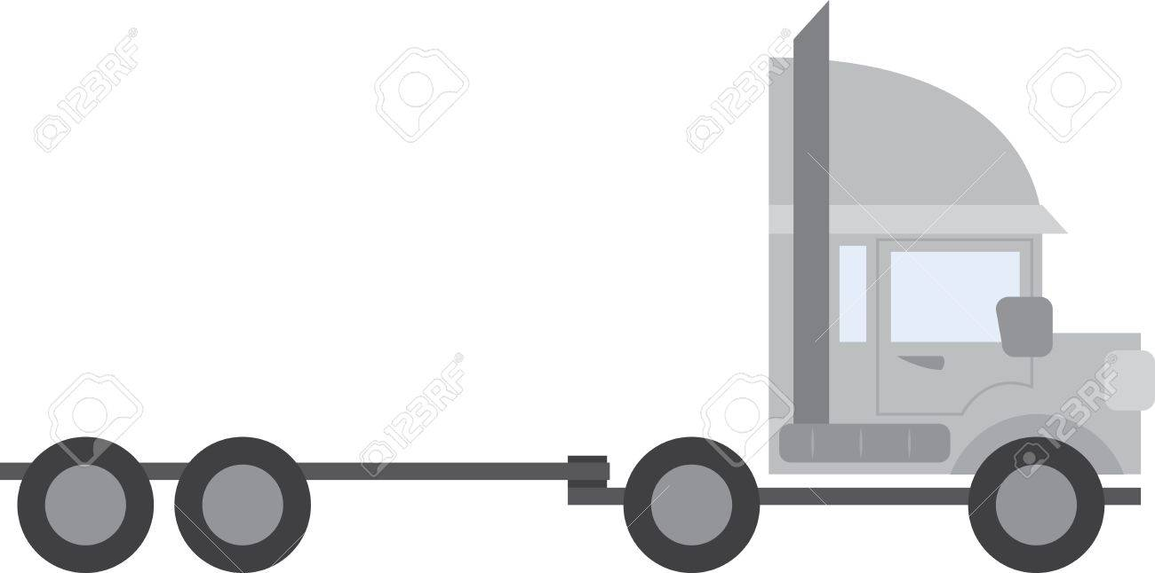 large empty truck tractor trailer royalty free cliparts vectors rh 123rf com flatbed tractor trailer clipart tractor trailer clip art free