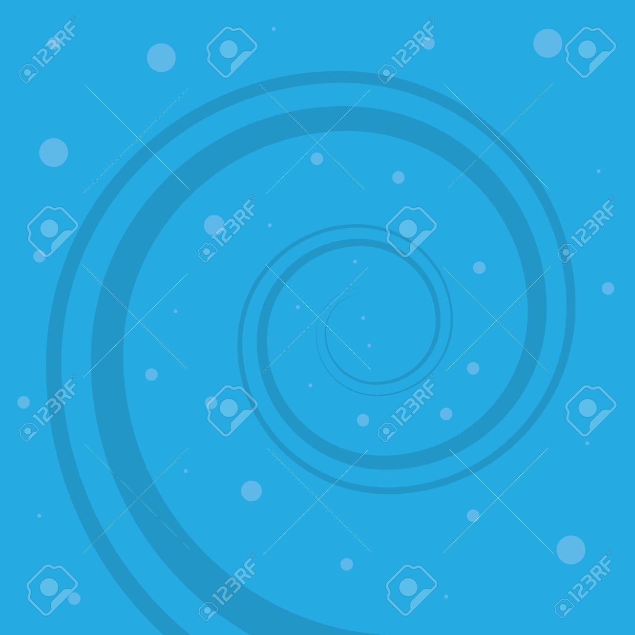 Cartoon blue water whirlpool spiral Stock Vector - 19420241