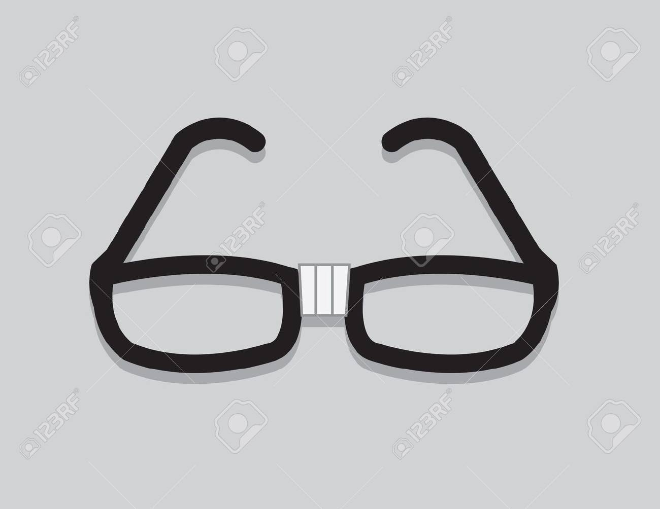 14146856f11 Nerdy glasses with taped center Stock Vector - 19895129
