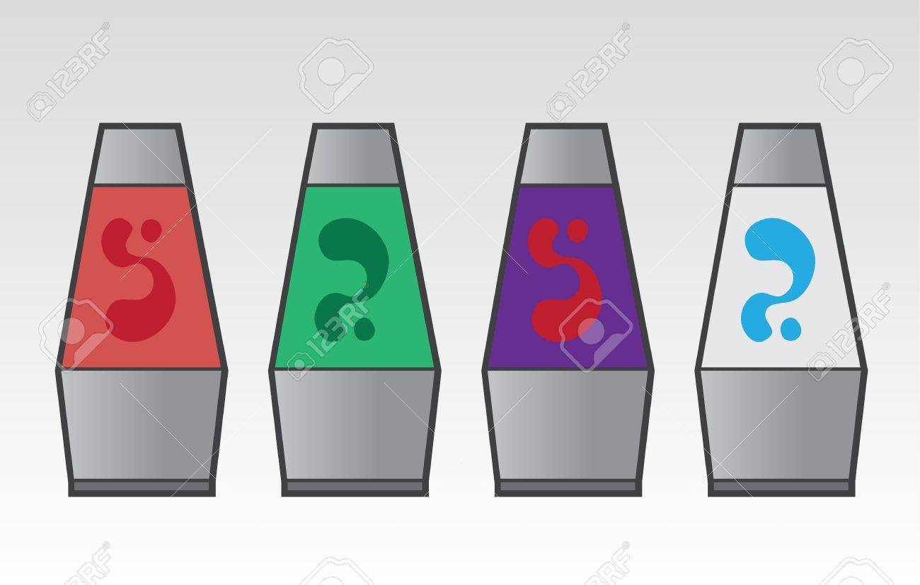 Lava lamps in different colors Stock Vector - 20335646