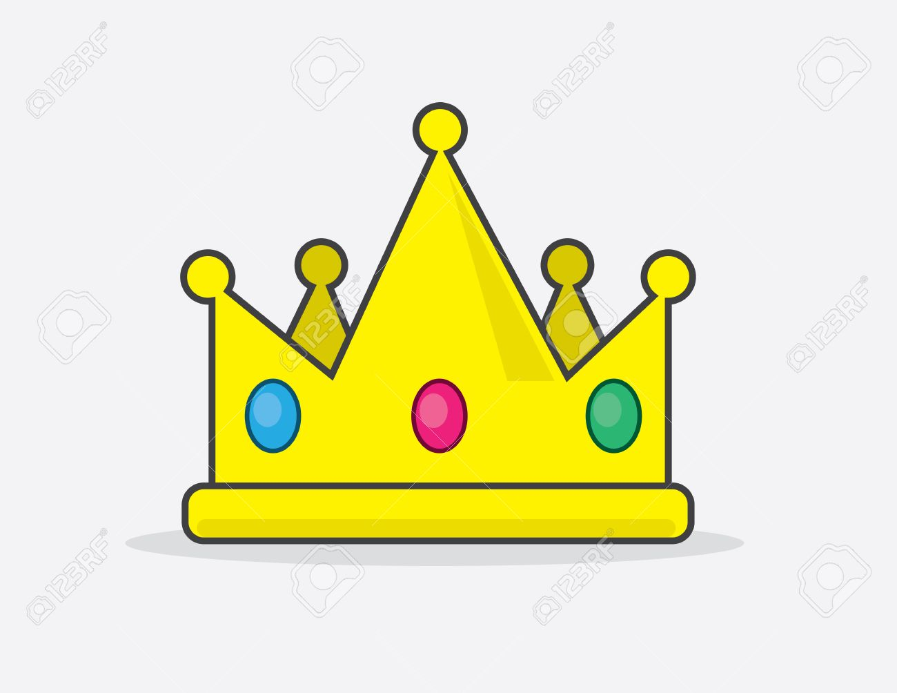 Cartoon Crown With Embedded Jewels Royalty Free Cliparts Vectors And Stock Illustration Image 24232612 Crown, crown, happy birthday vector images, royal crown png. cartoon crown with embedded jewels