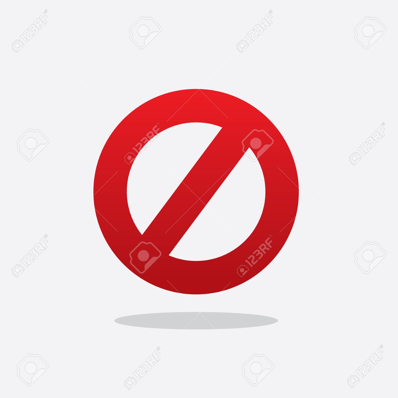 Floating Red Cross Out Do Not Sign Royalty Fri Clipart Vektorer Och