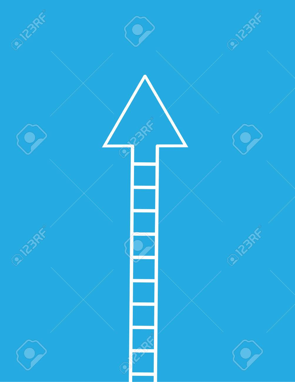 ladder with arrow pointing up royalty free cliparts vectors and