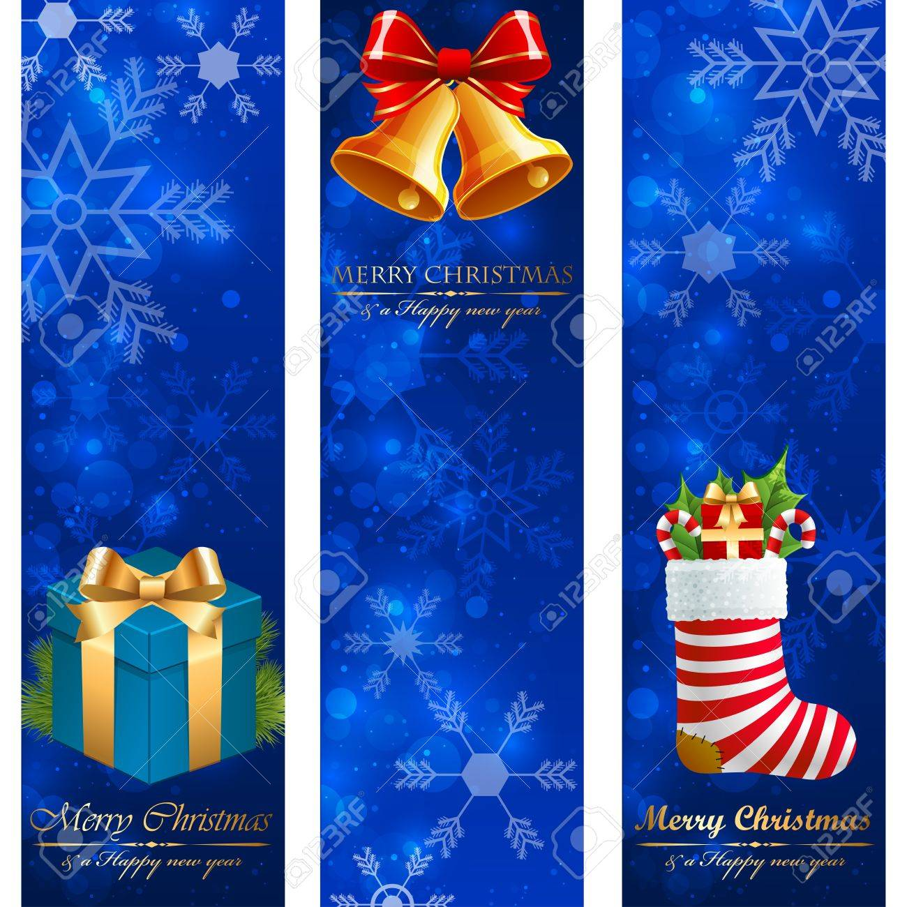 Christmas vertical banners. Stock Vector - 11656423