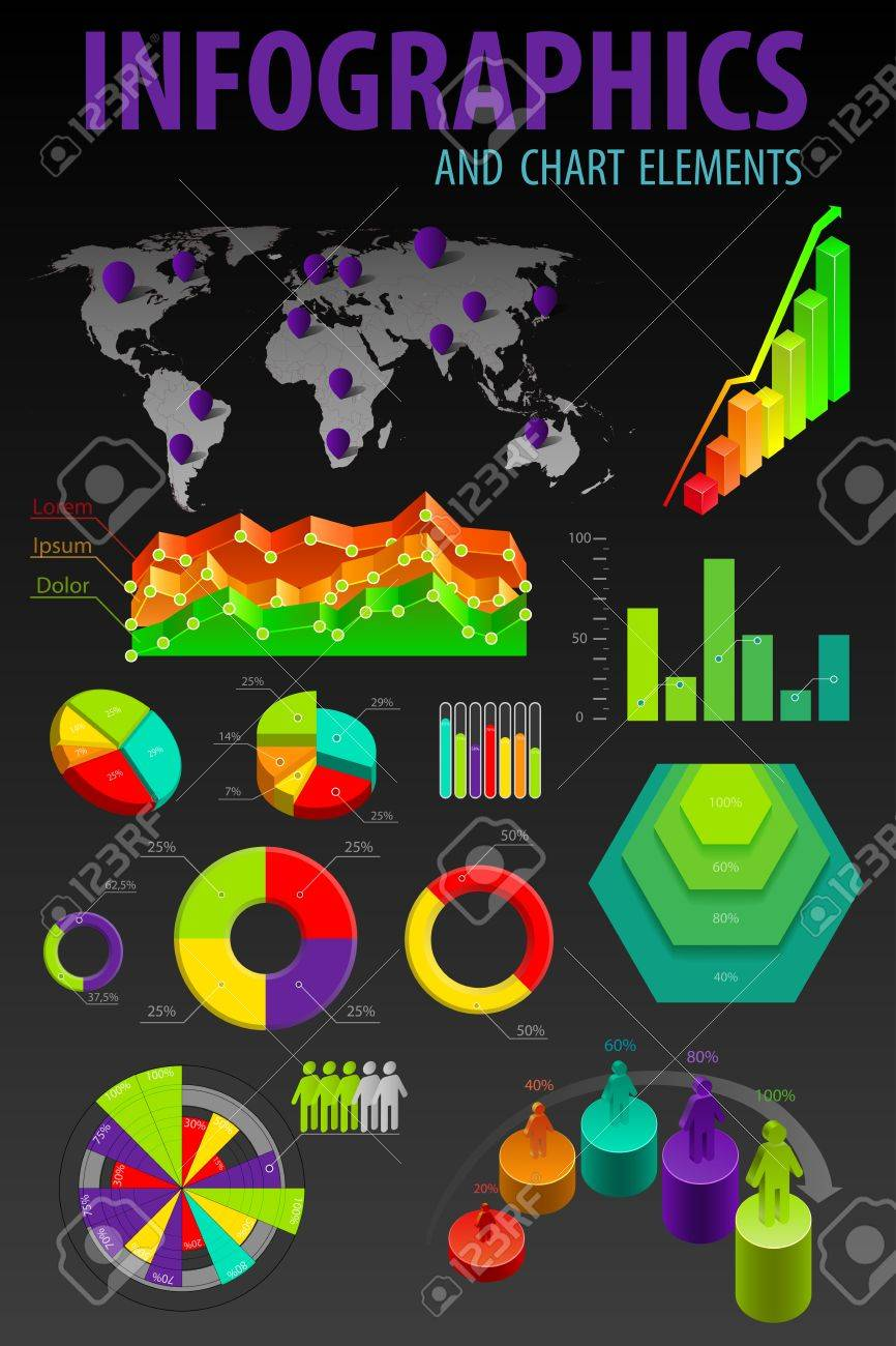 Set elements of infographics. World Map and Information Graphics illustration. Stock Vector - 12349068