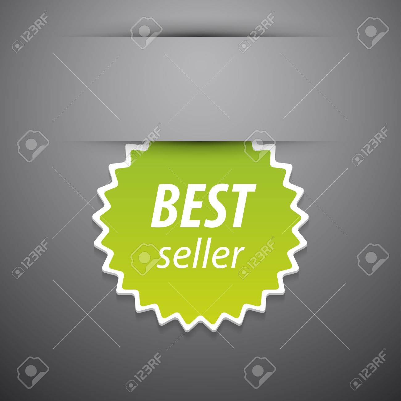 best seller tag on grey background Stock Vector - 12839399