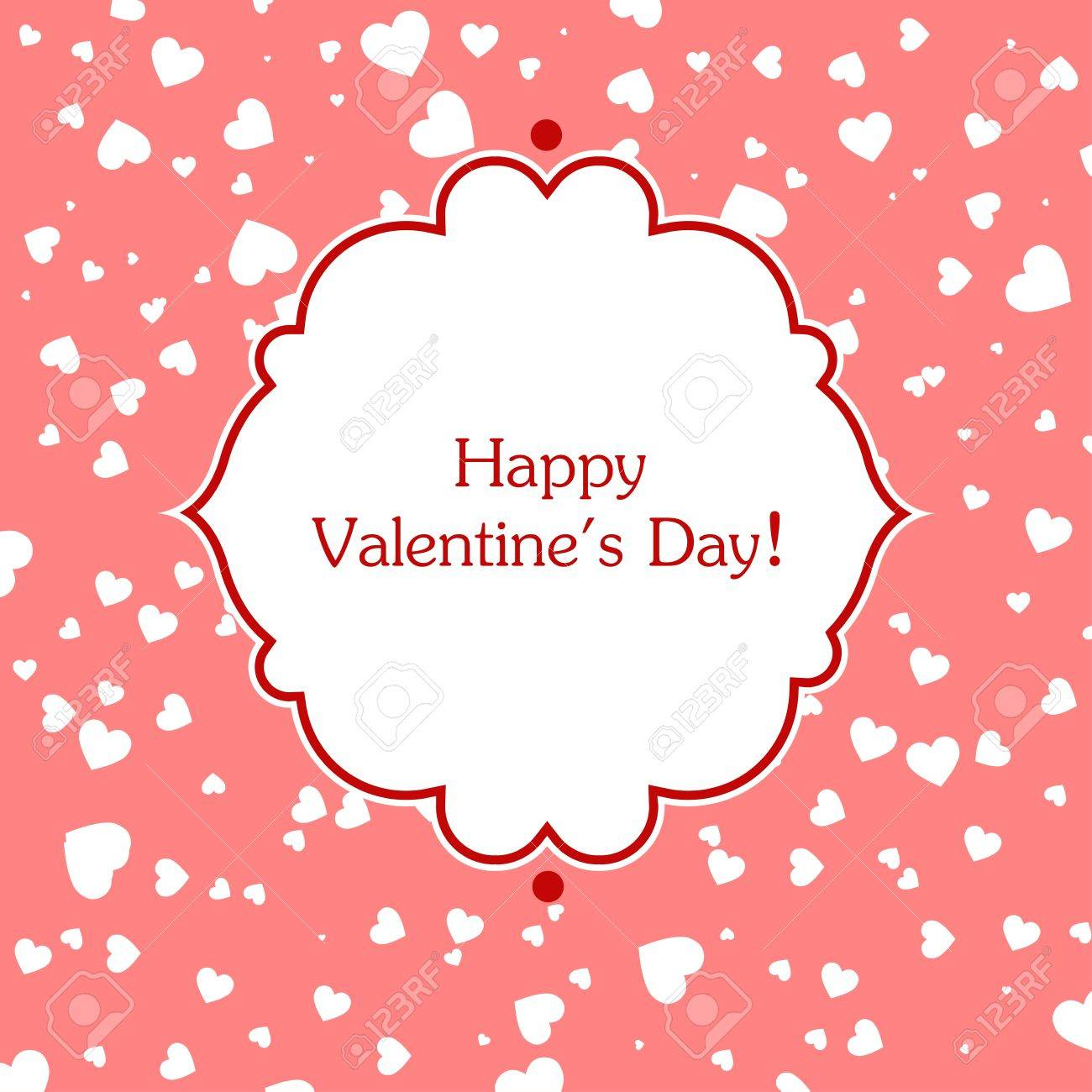 Valentines day greeting card. Vector illustration. Stock Vector - 17793070
