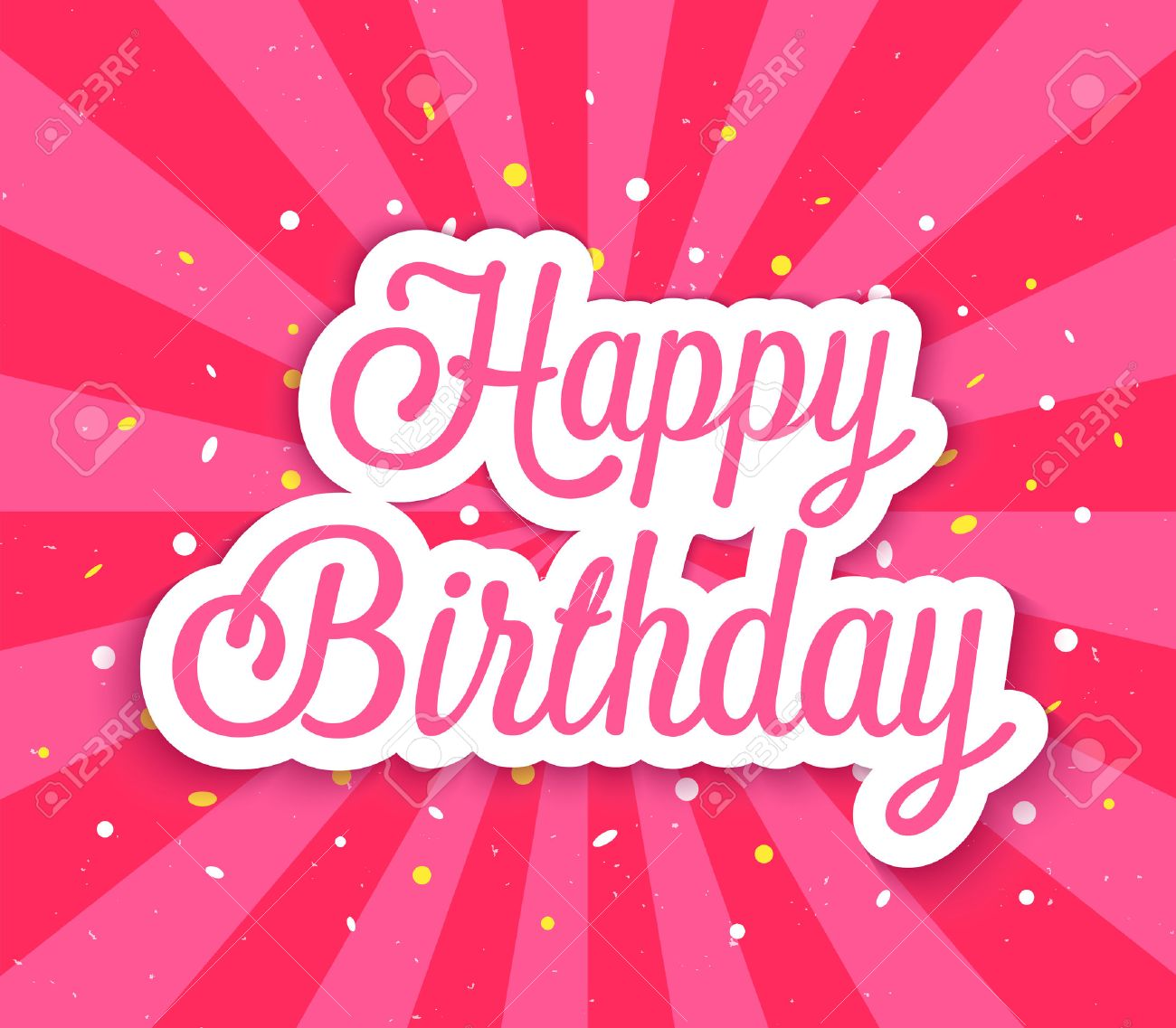 Happy Birthday Greeting Card Vector Illustration Royalty Free – Happy Birthday Greetings Photos