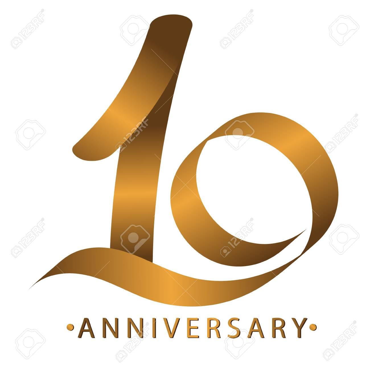Handwriting Celebrating Anniversary Of Number 10 Th Year