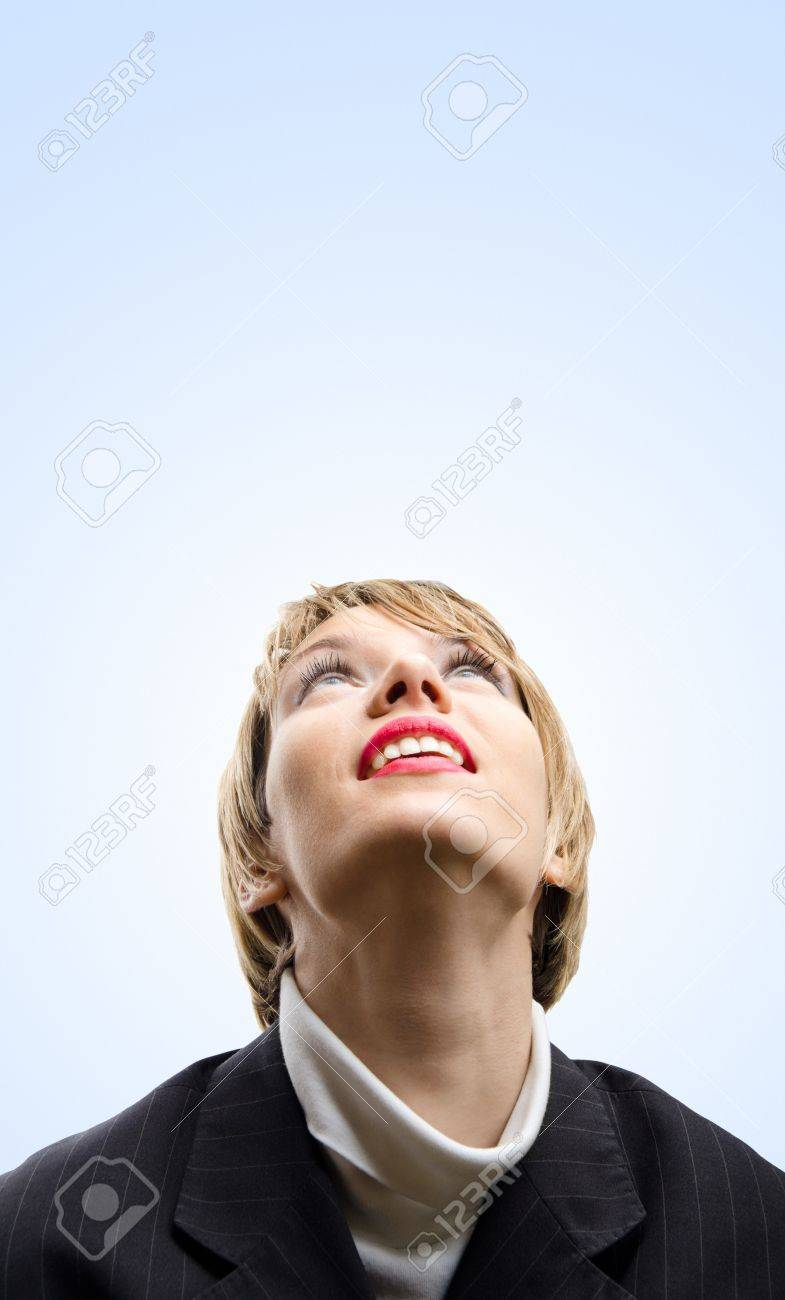 Girl Looking Up To The Sky Stock Photo Picture And Royalty Free Image Image 11664954