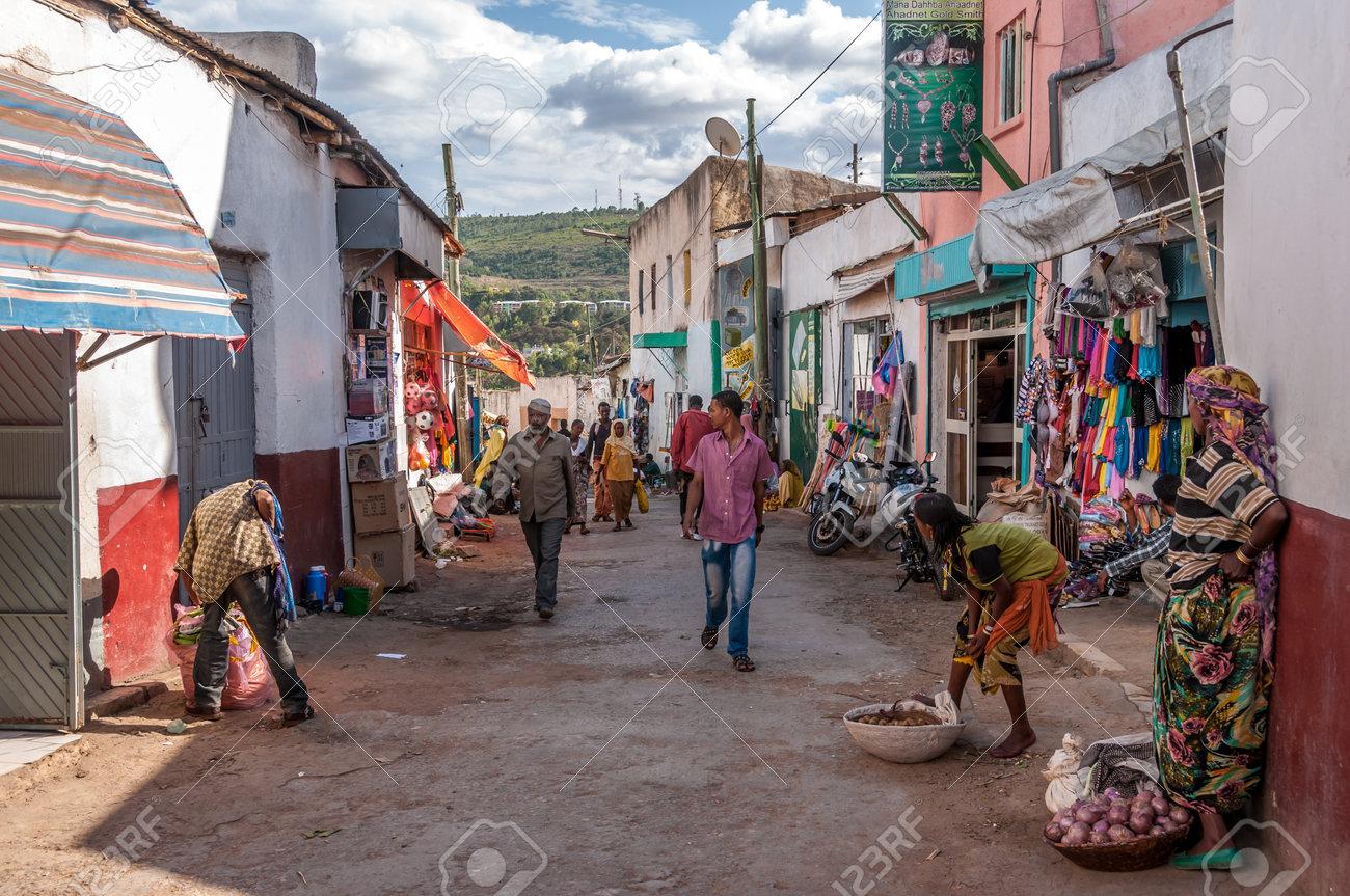 HARAR, ETHIOPIA - MARCH 27,2014 - Harar known to its inhabitants