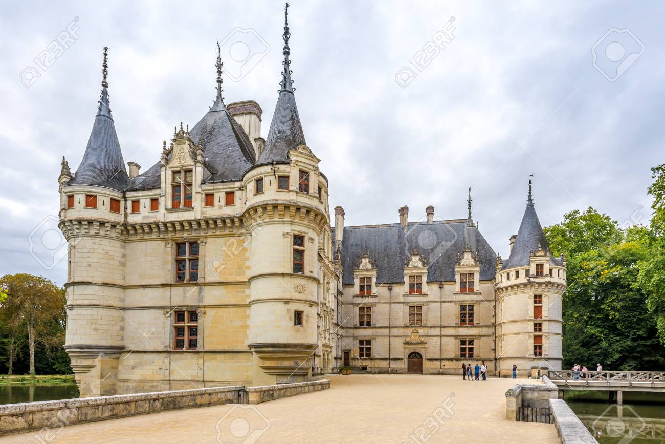 Azay Le Rideau France August 25 2014 View At The Chateau