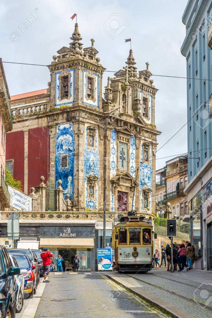 Porto Portugal May 13 2017 In The Streets Of Porto Near Church Stock Photo Picture And Royalty Free Image Image 80586245