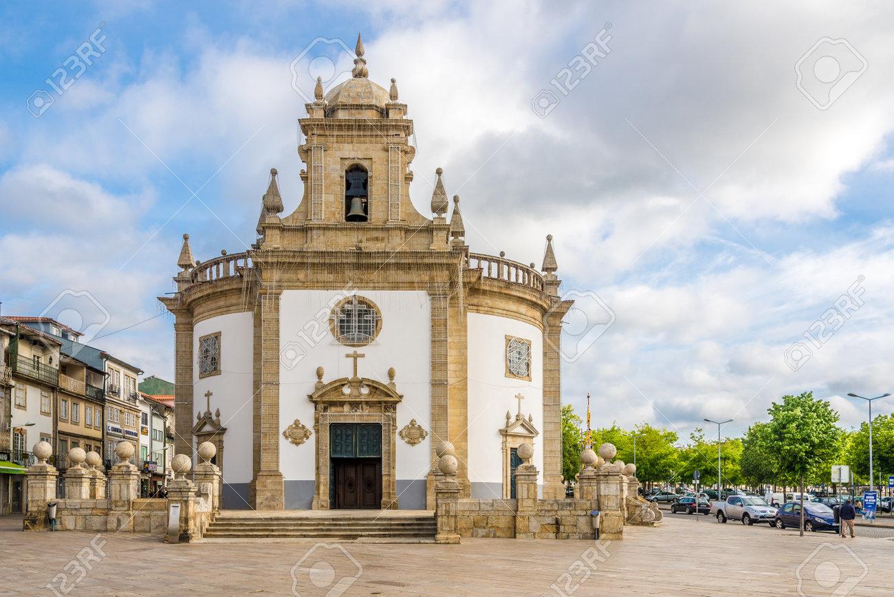 Barcelos Portugal May 142017 Church Bom Jesus Da Cruz In