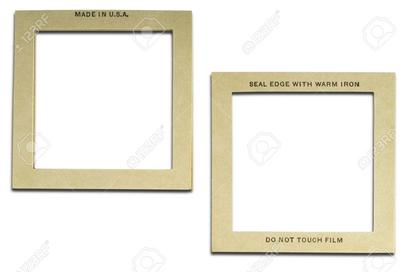 Two Sides Of 6x6 Slide\'s Mount Stock Photo, Picture And Royalty Free ...