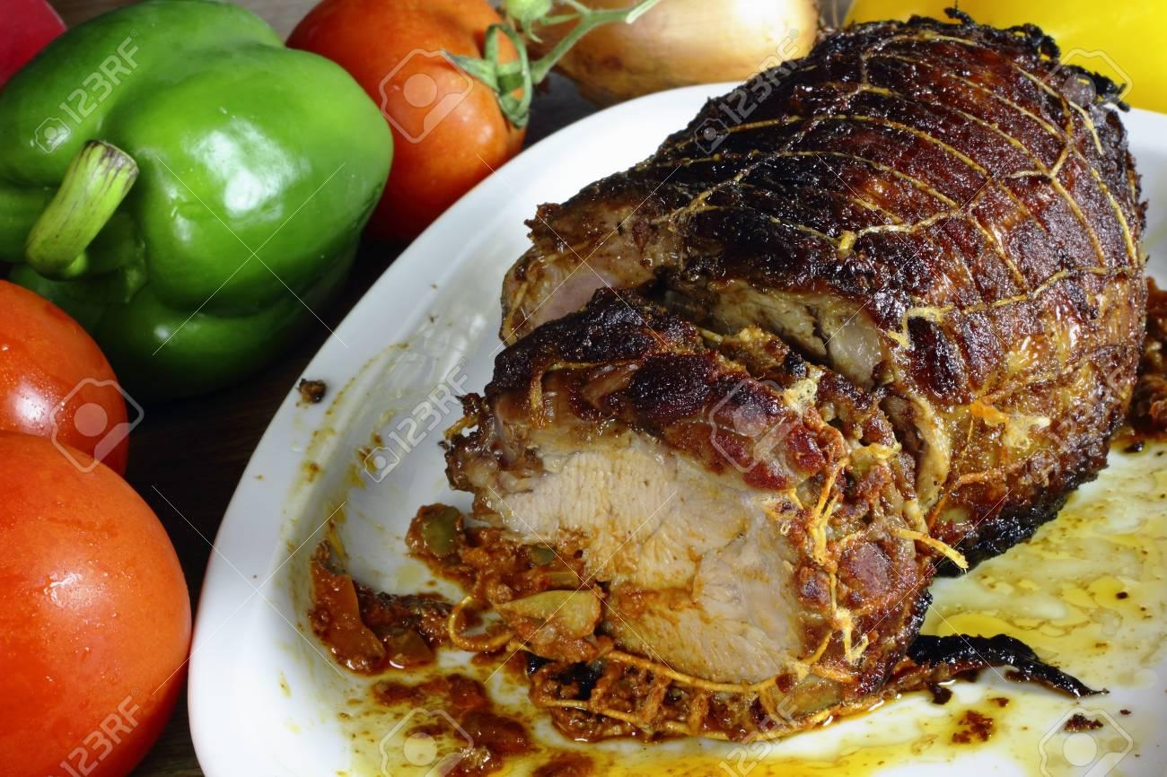 Turkey roll Stock Photo - 19549080
