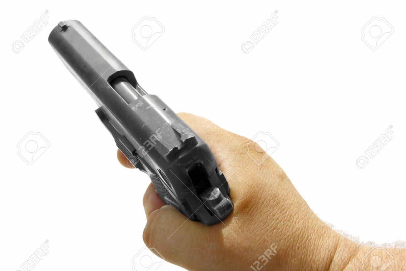 hand and gun Stock Photo - 19682288