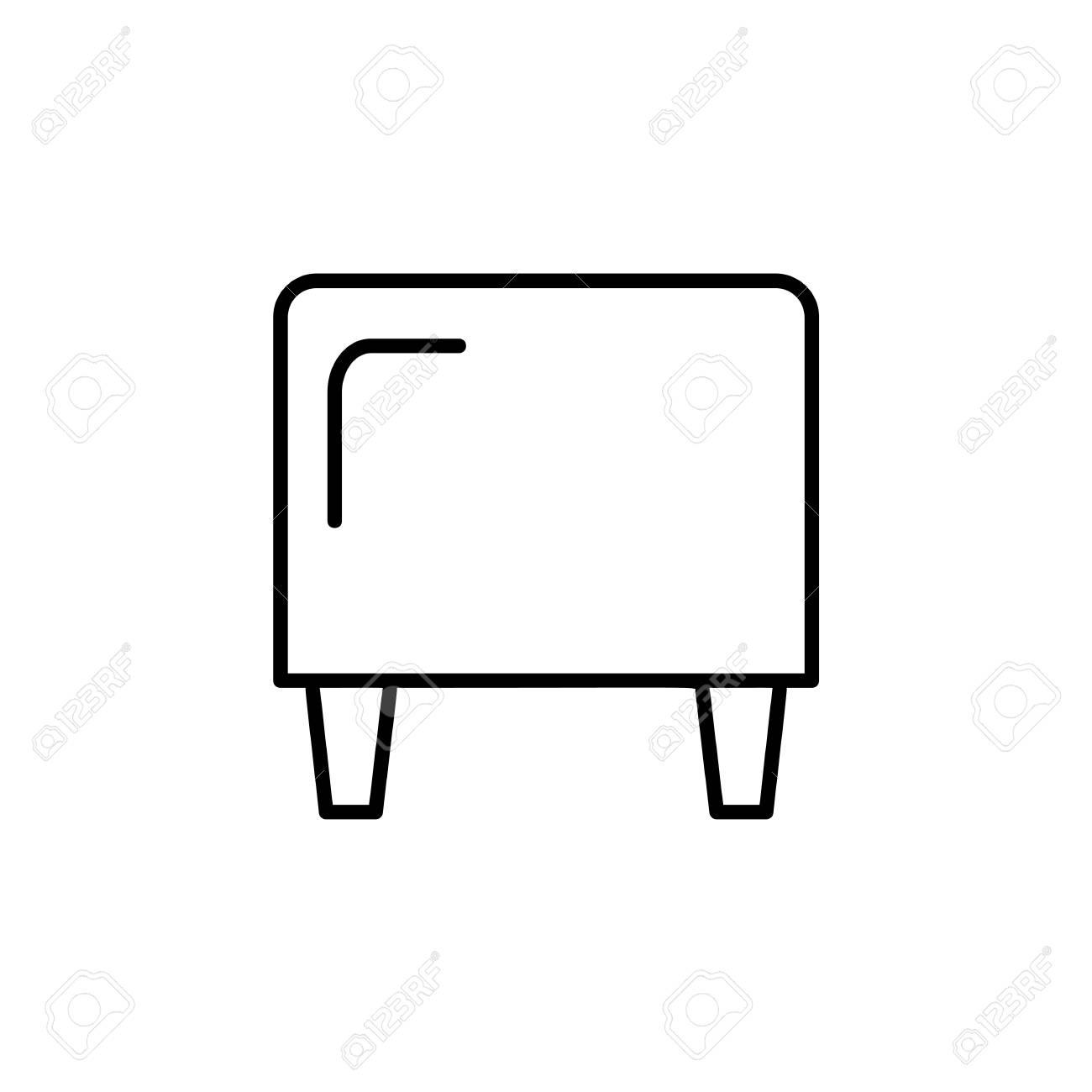 Brilliant Black White Vector Illustration Of Cube Leather Ottoman Pouf Evergreenethics Interior Chair Design Evergreenethicsorg