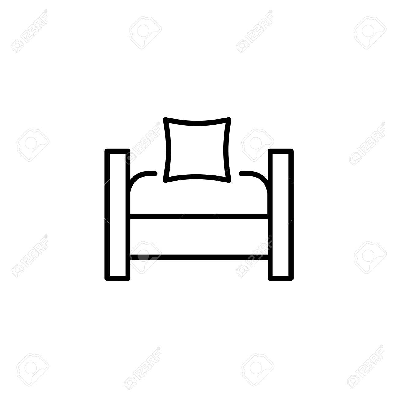 Groovy Black White Vector Illustration Of Sleeper Convertible Chair Inzonedesignstudio Interior Chair Design Inzonedesignstudiocom