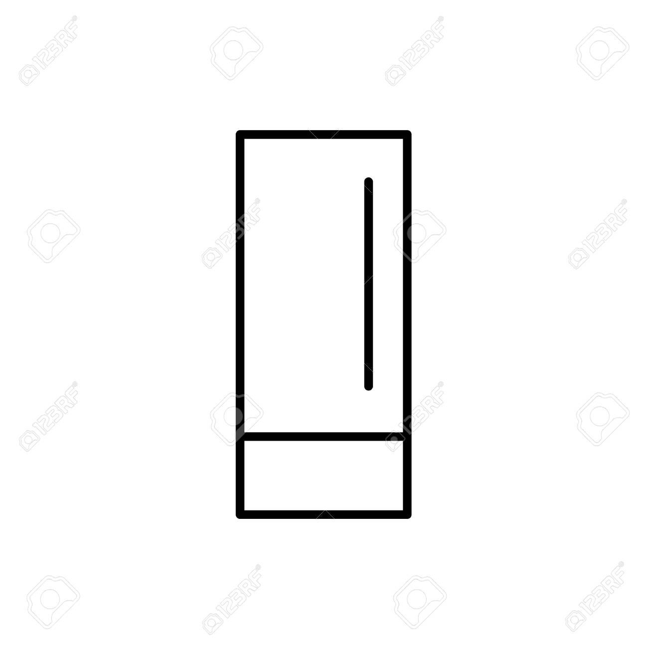Black White Vector Illustration Of Modern Touch Table Lamp